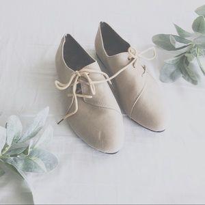 Shoes - SMALL BOUTIQUE | Faux Suede Lace Flats Sz 38